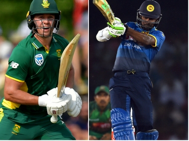 AB de Villiers and Upul Tharanga, captain of South Africa and Sri Lanka respectively. AFP
