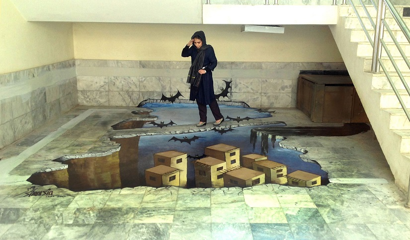 Shamsia Hassani Afghanistans first female graffiti artist wants people to make art not war