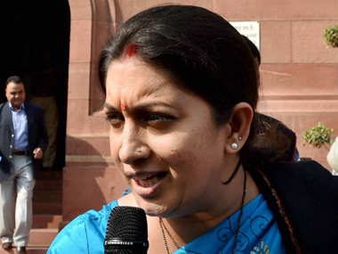 Smriti Irani says Gujarat traders ready to embrace GST, Congress inciting them against BJP govt