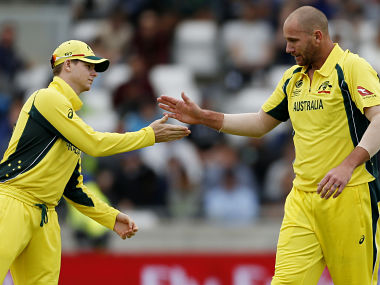 Steve Smith (L) wasn't too happy with the performance of his fast bowlers against New Zealand. Reuters