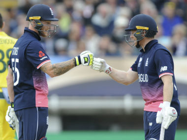 Stokes and Morgan steadied the ship for England after the team lost early wickets. AP
