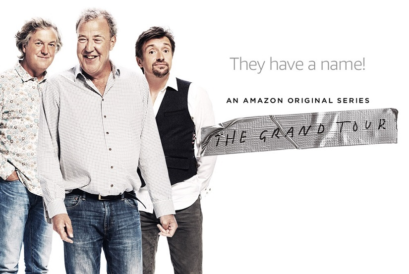 James May, Jeremy Clarkson and Richard Hammond on The Grand Tour. Image via Twitter