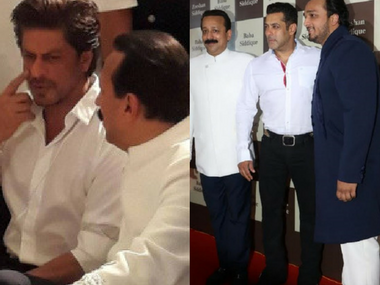 Salman Khan, Shah Rukh Khan attend Baba Siddiqui's Iftar party: see pictures