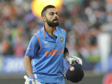 Virat Kohli remained unbeaten on 76, forming a solid partnership with Shikhar Dhawan for the 2nd wicket. AP