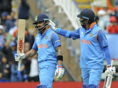 Virat Kohli and Yuvraj Singh stitched a quickfire 93-run stand for the third wicket, while bringing up their fifties. AP