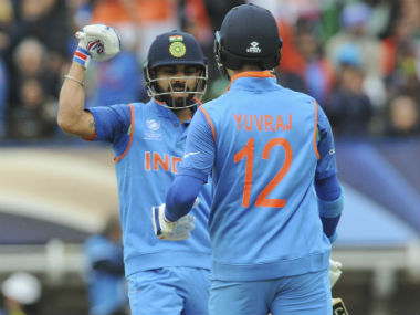 Virat Kohli and Yuvraj Singh powered India to a massive score of 319 in 48 overs. AP