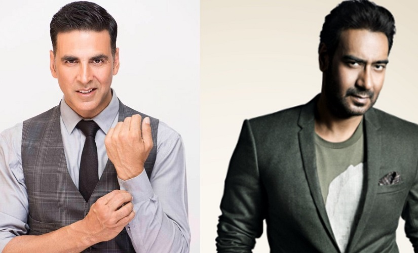 Akshay Kumar and Ajay Devgn. Images from Facebook
