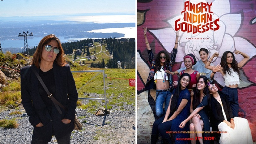 (L) Arsala Qureishi; (R) poster of Angry Indian Goddesses