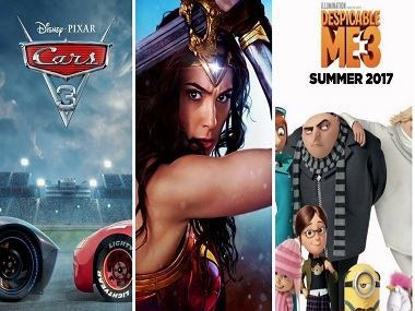 Cars 3 - Wonder Woman - Despicable Me. Images from Twitter.