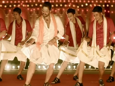 Allu Arjun in a still from Duvvada Jagannadham. YouTube