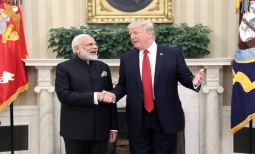 Trump and Modi reaffirm Indian-US relations with a hug