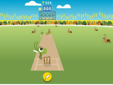 The Google doodle on ICC Champions Trophy.
