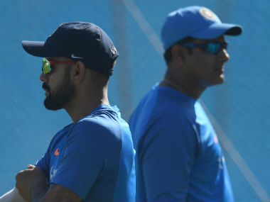 Virat Kohli (L) apparently detested Anil Kumble's interference. AFP