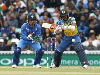 Sri Lanka's Kusal Mendis (R) in action against India during Champions Trophy 2017. AFP
