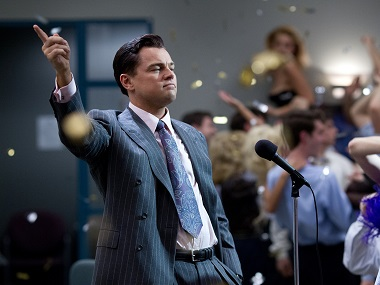 Leonardo DiCaprio in a still from The Wolf of Wall Street. Image from Facebook