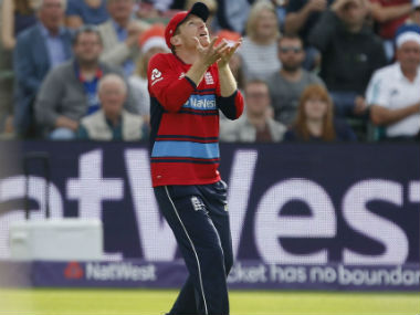 Eoin Morgan in action in the 2nd T20I against England at Taunton on 23 June. AP