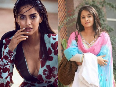 Sonam Kapoor - Anushka Shetty. Images from Twitter.