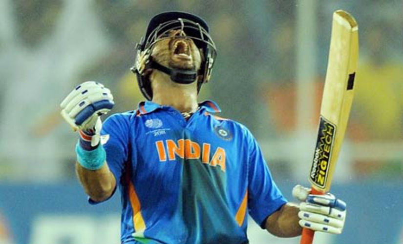 Yuvraj was the player of the tournament. AFP