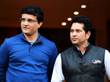 Former Indian cricketers Sachin Tendulkar and Sourav Ganguly in this file photo. AFP
