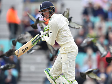 Keaton Jennings plays a shot during play on day 3 of the third Test against South Africa. AFP
