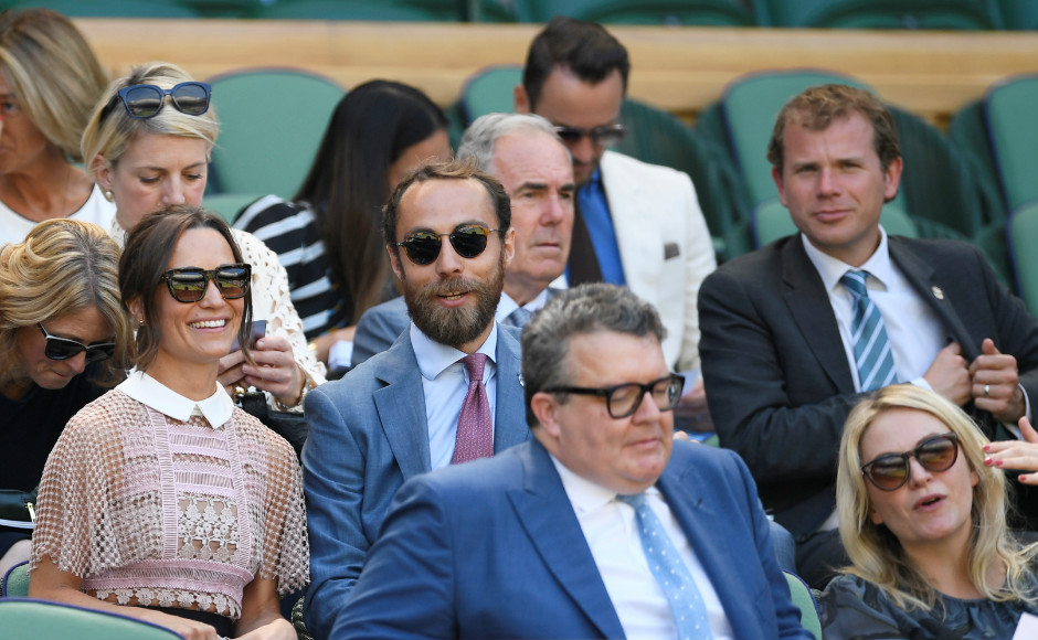 Pippa Middleton Wore a See-Through Lace Dress to Wimbledon