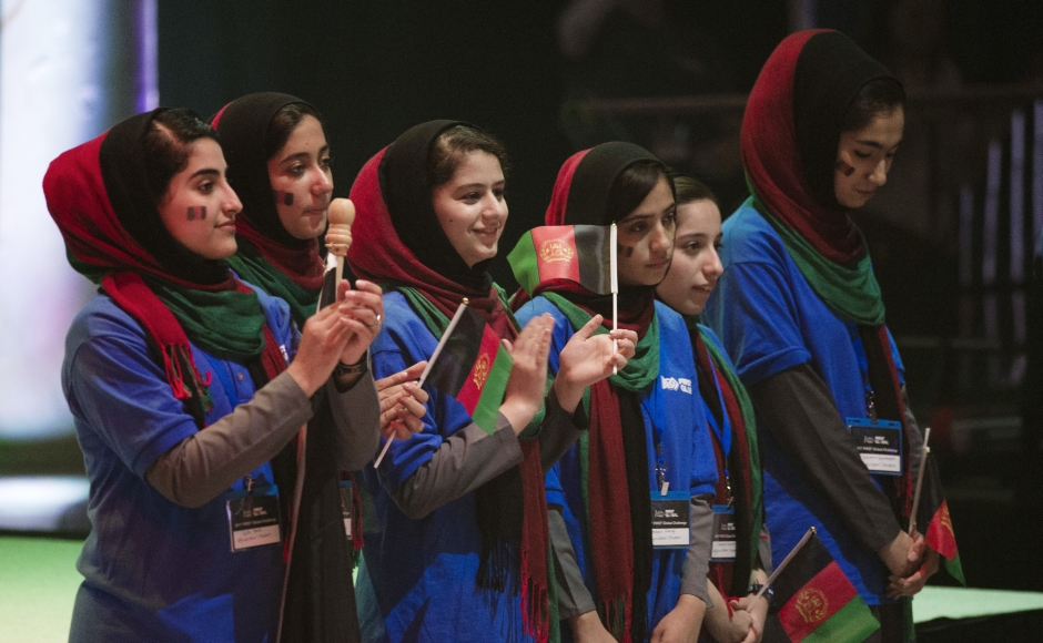 Afghanistan all-girls team arrives in US to participate in robotics competition