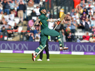 Alex Hales celebrates after guiding Nottinghamshire to Royal London One-Day Cup title. Twitter: @TrentBridge