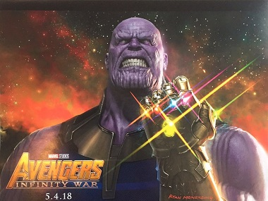 Thanos from Avengers: Infinity War. Image via Twitter.