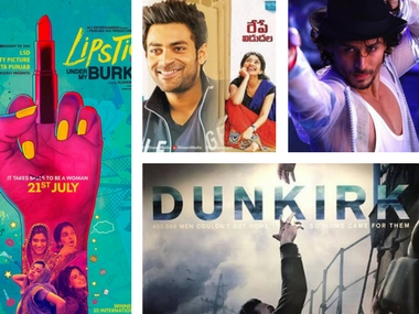 Lipstick Under My Burkha, Munna Michael, Fidaa and Dunkirk posters. Images via Facebook