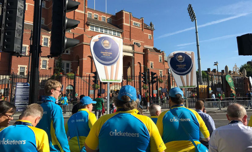 Cricketeers on their way to the Oval in London during the ICC Champions Trophy 2017. Image courtesy: ICC Cricketeers via Twitter