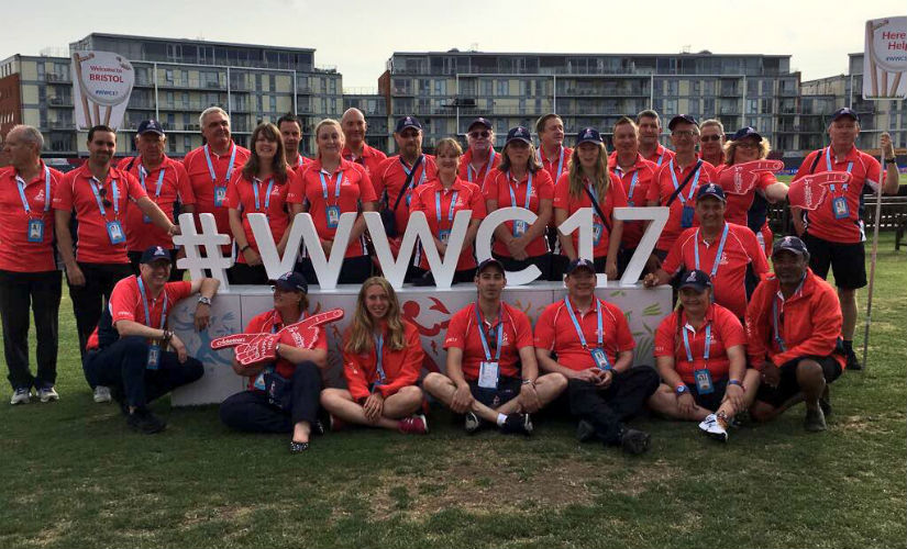 Cricketeers pose at the Bristol after the Women's World Cup 2017 semi-final between England and South Africa. Image courtesy: ICC Cricketeers via Twitter