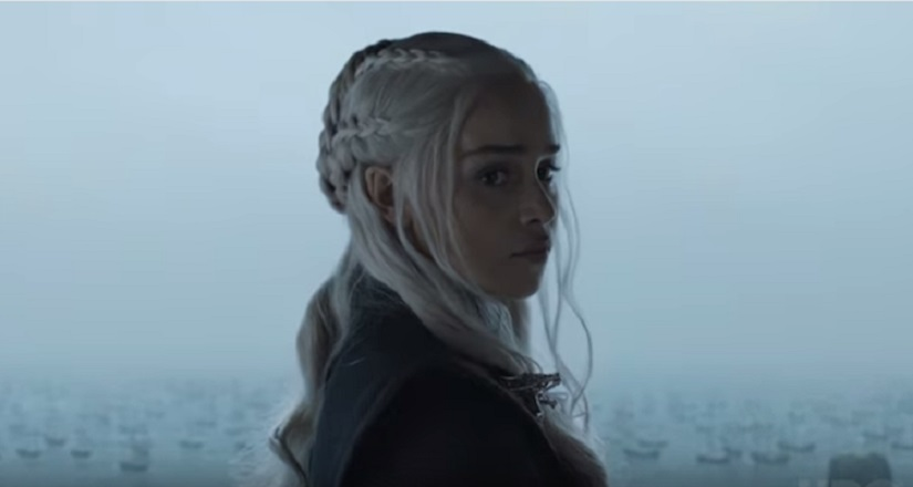 Dany's stuck in a storm at Dragonstone. Still from Game of Thrones season 7 episode 2, 'Stormborn', via HBO