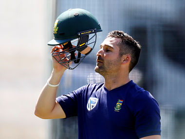 South Africa's Dean Elgar during a practise session .Reuters