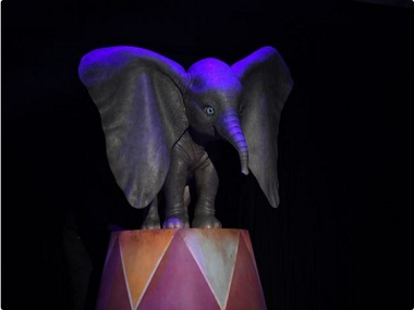 Life-sized model of Dumbo from Tim Burton's live-action adaptation. Image from Twitter.