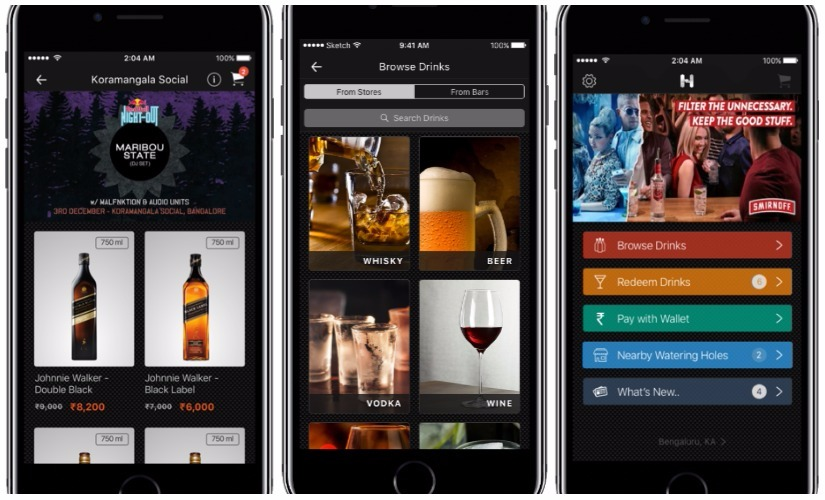 HipBar A mobile app that moves the bar to the cloud and promotes responsible drinking