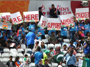 India and Pakistan fans created a wonderful atmosphere at the Derbyshire Cricket ground. Twitter/@ICC