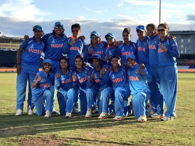 The Indian women's cricket team. Image courtesy: Twitter/cricketworldcup