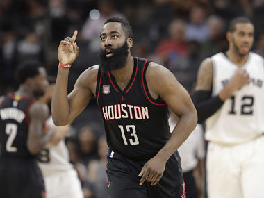 NBA James Harden helps Rockets tighten grip on top spot in Western Conference Thunder beat Kings