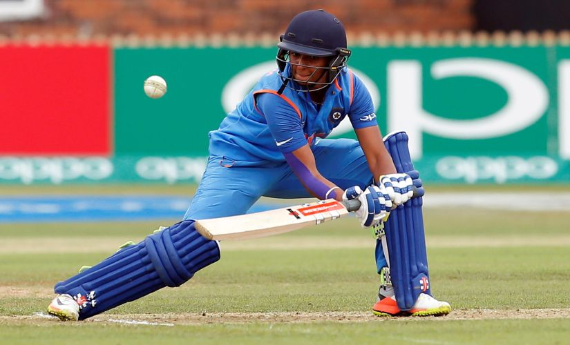 Cricket - India vs New Zealand - Women's Cricket World Cup - Derby, Britain - July 15, 2017 India's Harmanpreet Kaur in action Action Images via Reuters/Craig Brough - RTX3BKE5