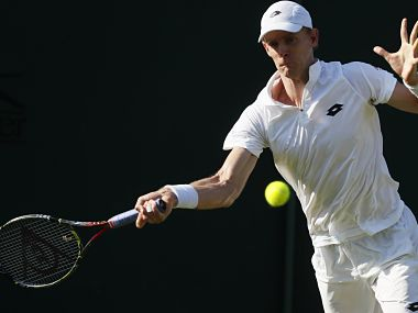 South Africa's Kevin Anderson during his match against Italy's Andreas Seppi. AP