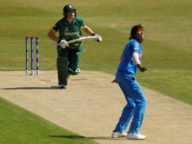 South Arica's Lizelle Lee in action against India's Jhulan Goswami. Reuters