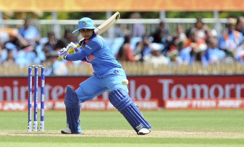 India captain Mithali Raj bats during the ICC Women's World Cup 2017 match between India and Pakistan at County Ground in Derby, England, Sunday, July 02, 2017. (AP Photo/Rui Vieira)