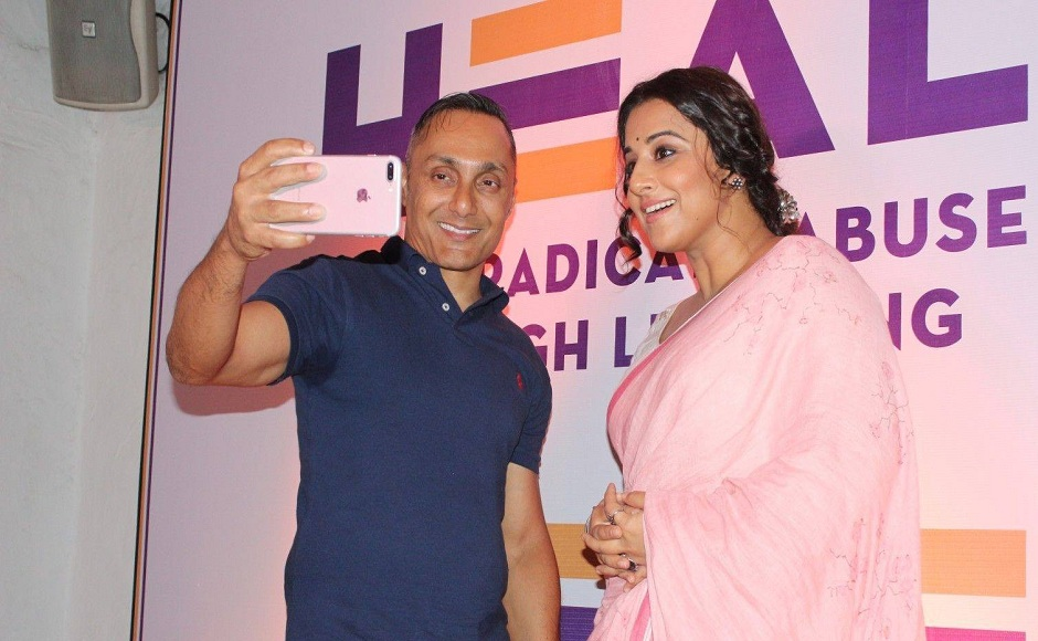 Rahul Bose launches his NGO HEAL, which works against child abuse, along with Vidya Balan