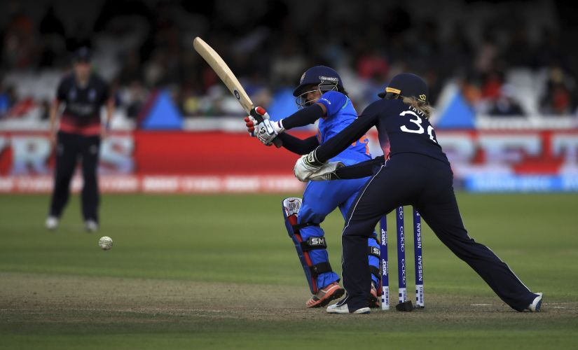 India's Punam Raut bats during the ICC Women's World Cup 2017 final match against England at Lord's. AP