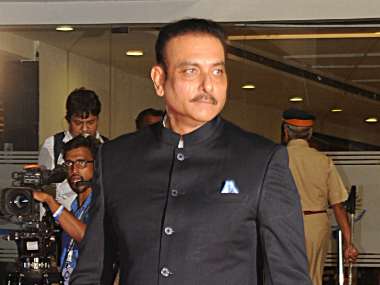 File photo of newly-appointed India coach Ravi Shastri. AFP