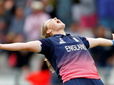 Cricket - Women's Cricket World Cup Final - England vs India - London, Britain - July 23, 2017 England's Anya Shrubsole celebrates bowling out India's Rajeshwari Gayakwad to win the World Cup Action Images via Reuters/John Sibley - RTX3CLJU