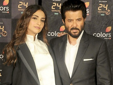 Sonam Kapoor and Anil Kapoor. Image from FP.
