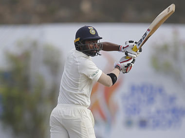 Abhinav Mukund plays a shot during the third day of the first Test against Sri Lanka in Galle. AP