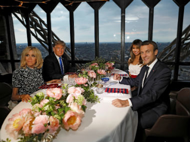 Donald Trump faces flak for telling French first lady Brigitte Macron that she's in 'good shape'