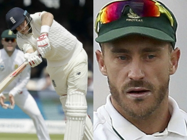 England captain Joe Root and South Africa captain Faf du Plessis.